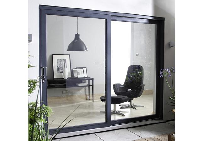 Guangzhou Aluminum Glass Sliding Door Balcony Tempered Glaze Sliding Door