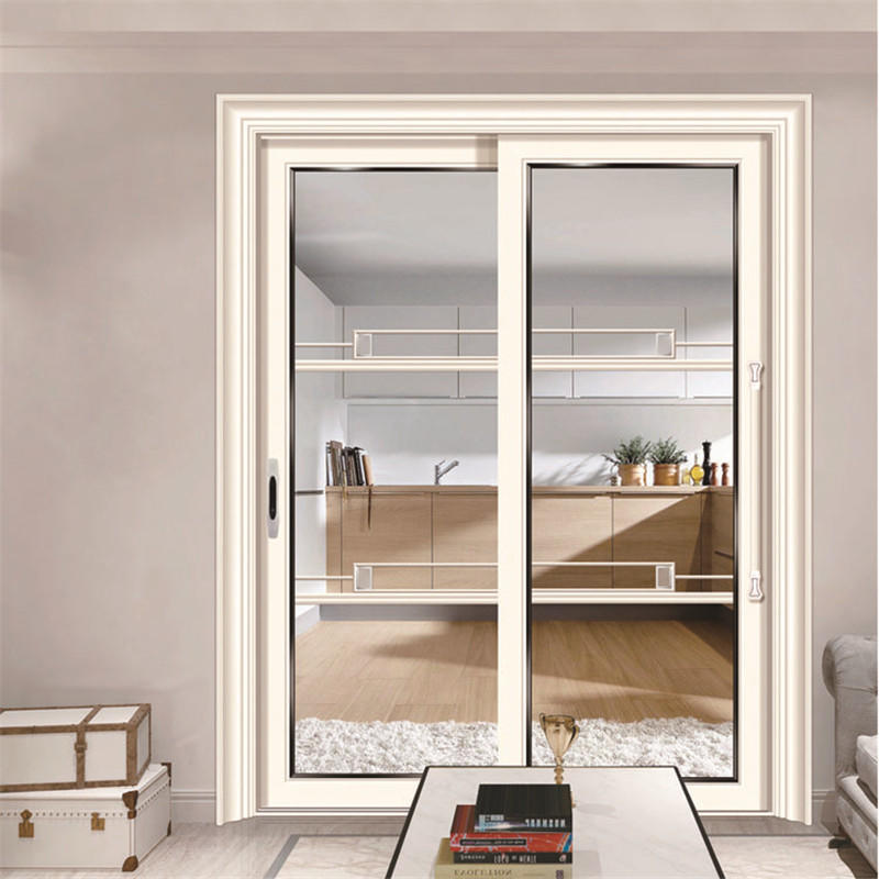 1800*2400mm Aluminum Frame Sliding Interior Glass Door From Guangzhou
