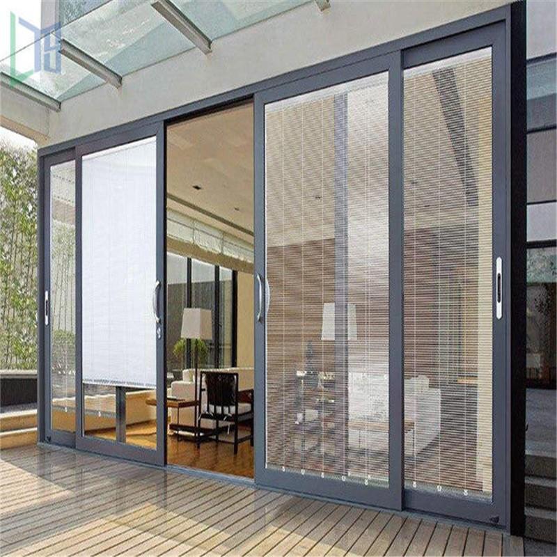 Aluminum slide door single tempered clear glass sliding door glass door
