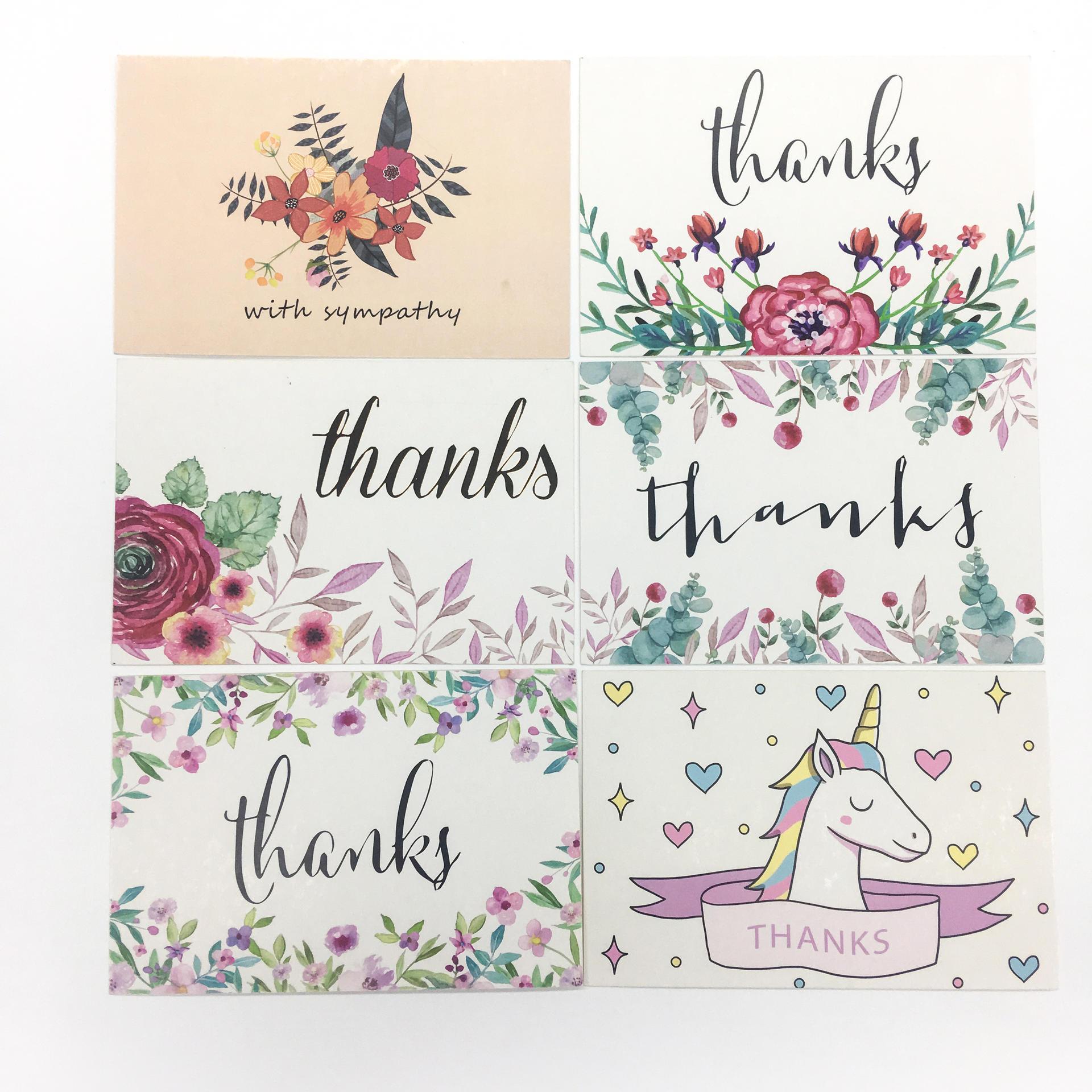 Custom CMYK Printing Birthday Invitation Thank You Card Bulk With Envelopes