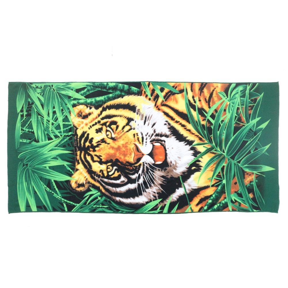 Cheap Custom Adults Luxury Microfiber Sublimation Printed Bath Towel with Tiger Animal