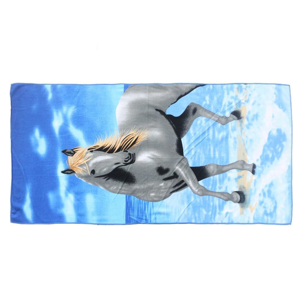 Free Sample Wholesale Large Microfiber Printed Horse Bath Towel