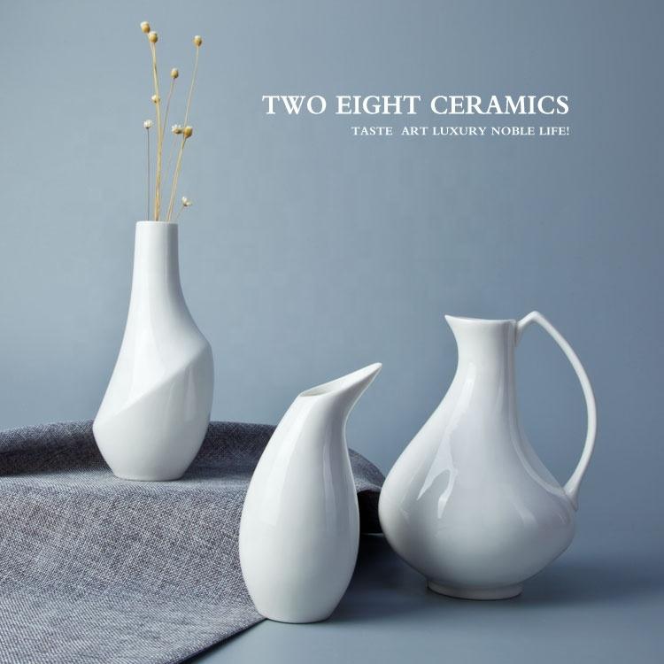 Special Durable White Crockery Tableware Vase, Restaurant Hotel Supplies Ceramic Porcelain Vases*