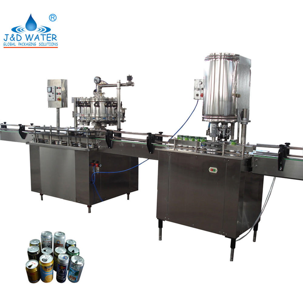 1000-2000 Production Capacity Can Water Filling Machines with 3.2kw