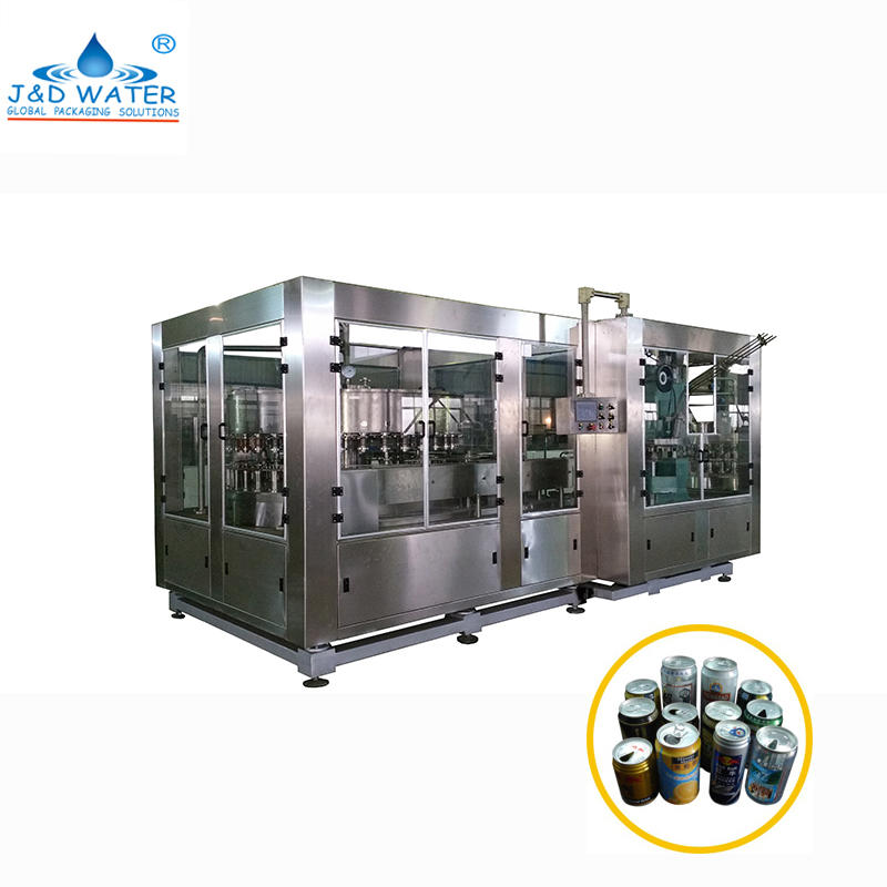 Soda Beverage Water Drinks Aluminum Can Filling Machine Production Line