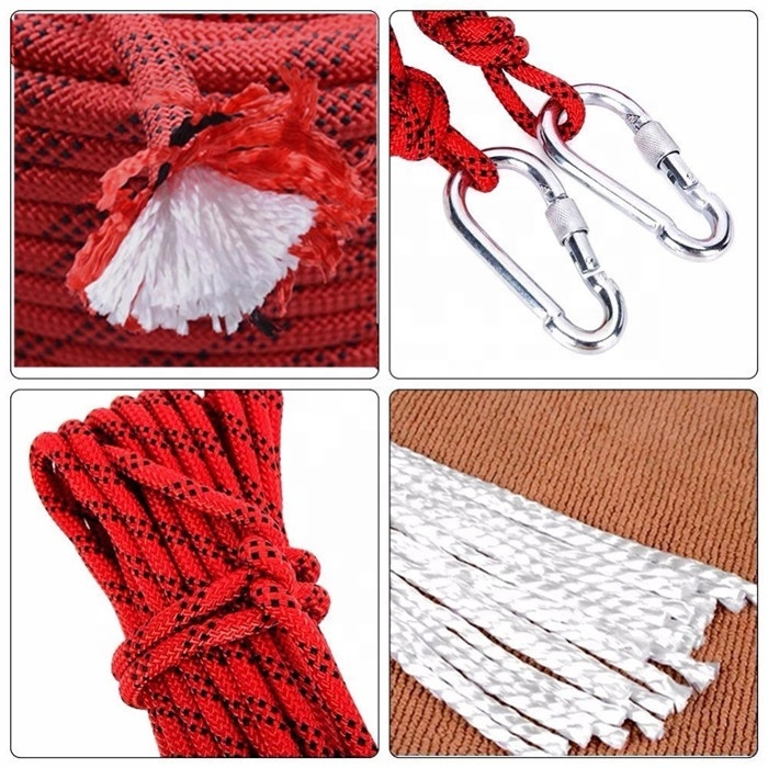 Hot performancecustomized package and size pp/ polyester/ nylonstrong static climbing ropeoutdoor safetyrope