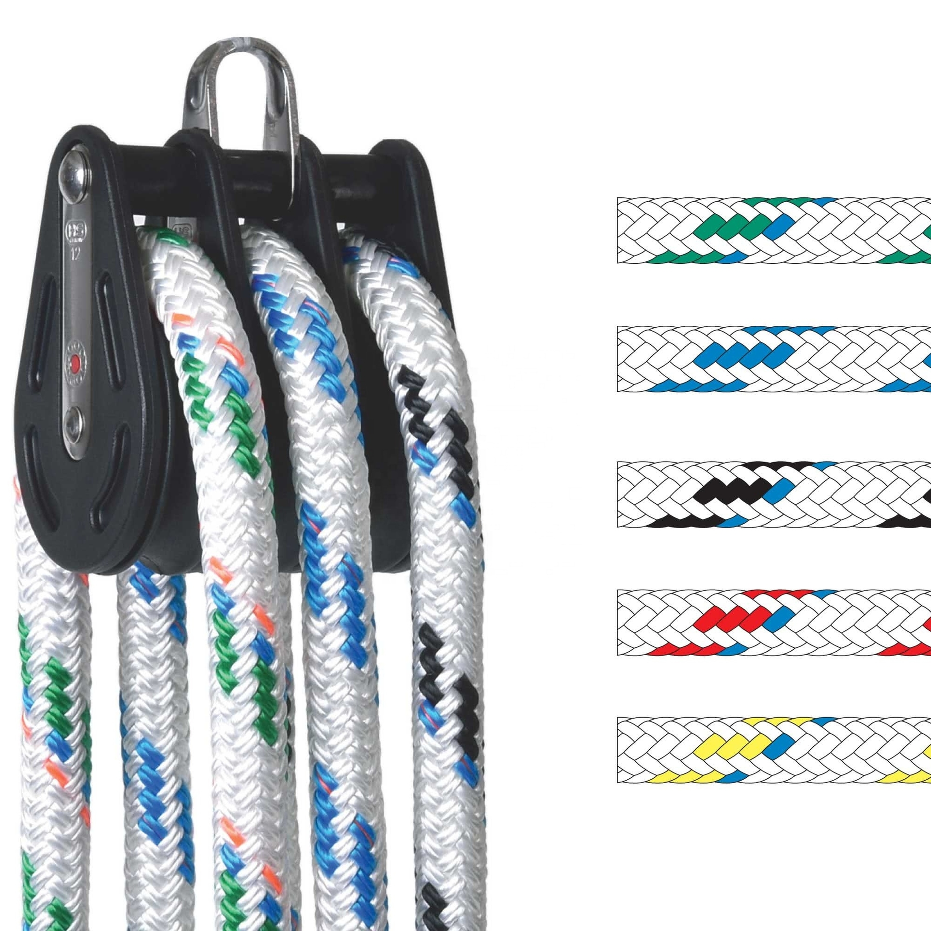 High performance customized package and sizesailing rope for sailboat, halyard, jib sheet, etc
