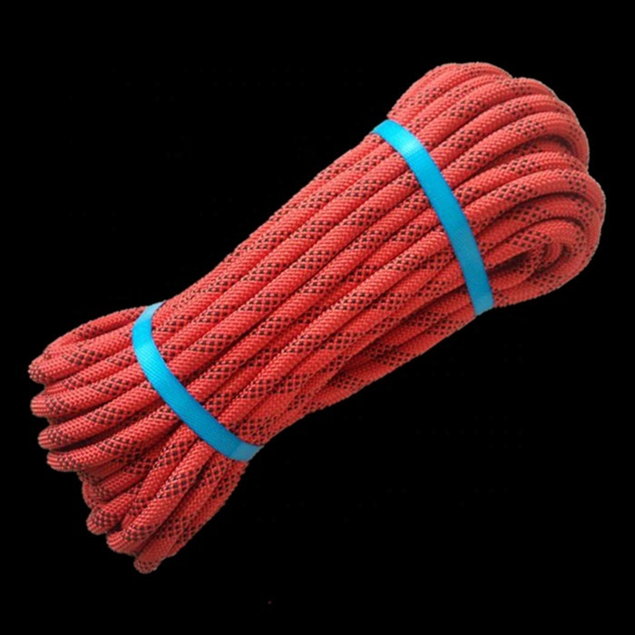 Top performance customized package and sizeCE certificatebraided nylon/ polyesterstrong static climbing ropesafetyrope