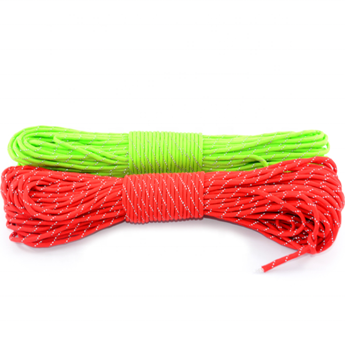 Top quality customized package and size 7 core parachute rope 16/ 24/ 32 strandbraided rope for camping, tent, outdoor, etc