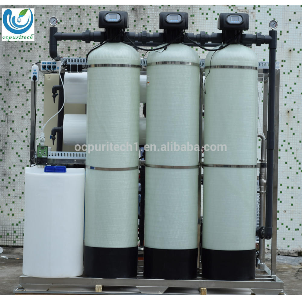 2000Lph water pretreatment filter with ro and edi
