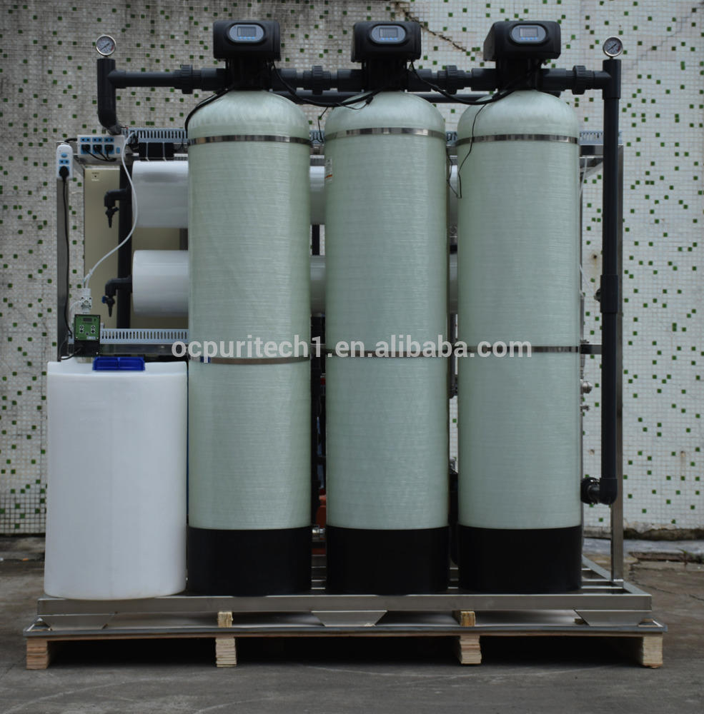 China Guangzhou 2000L/h reverse osmosis water treatment plant with DI device
