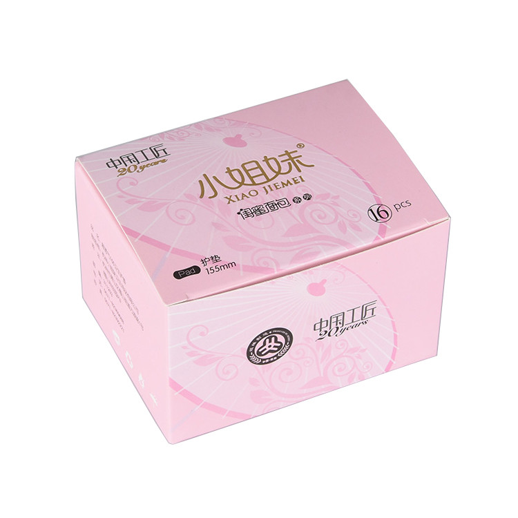 Low Moq Pink Printed Medicine Storage Box Paper Packaging Box For Girl