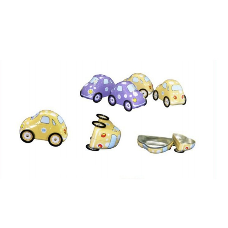 Small Bus/ Car Shape Metal Tin Box for Candy Biscuits Chocolate
