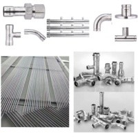 Factory Direct sales high quality Sanitary Pipe Fittings 90 Degree Long Radius female Elbow/Bend ss304/316l V profile