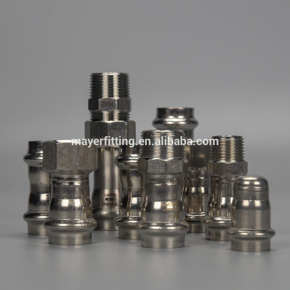 Stainless steel fire water pipe fittings adjust Female coupling Propress
