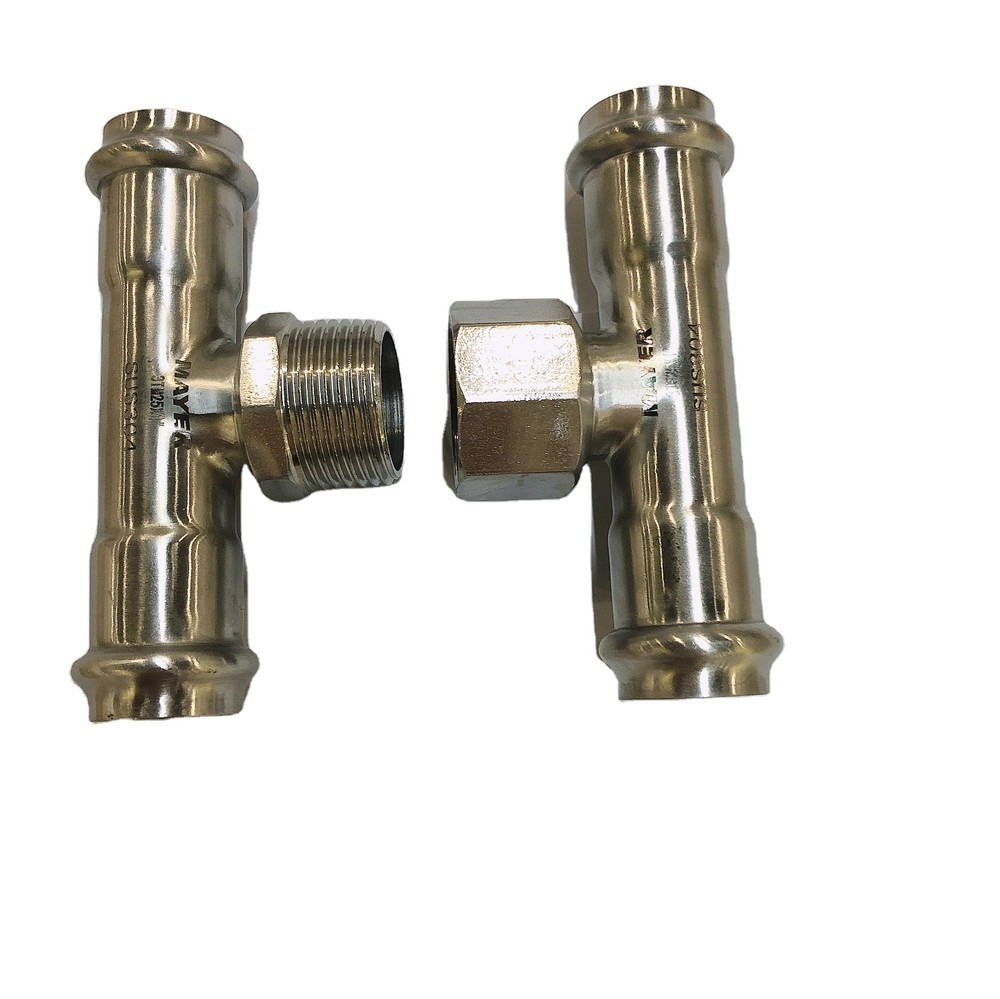 304/316L high quality hydraulic plumbing pipe fitting tee thread fitting