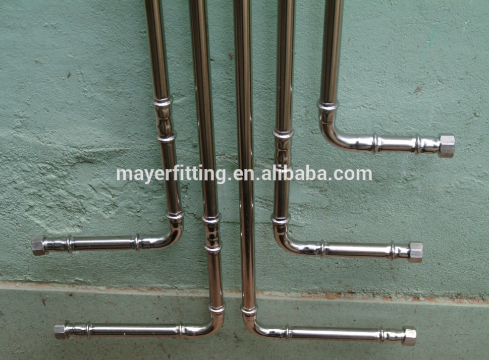 DIN standard stainless steel female coupling adapter pipe press fittings