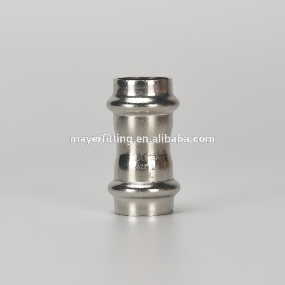 EN10312 Stainless Steel Tube Press Fittings V Profile Coupling 18mm