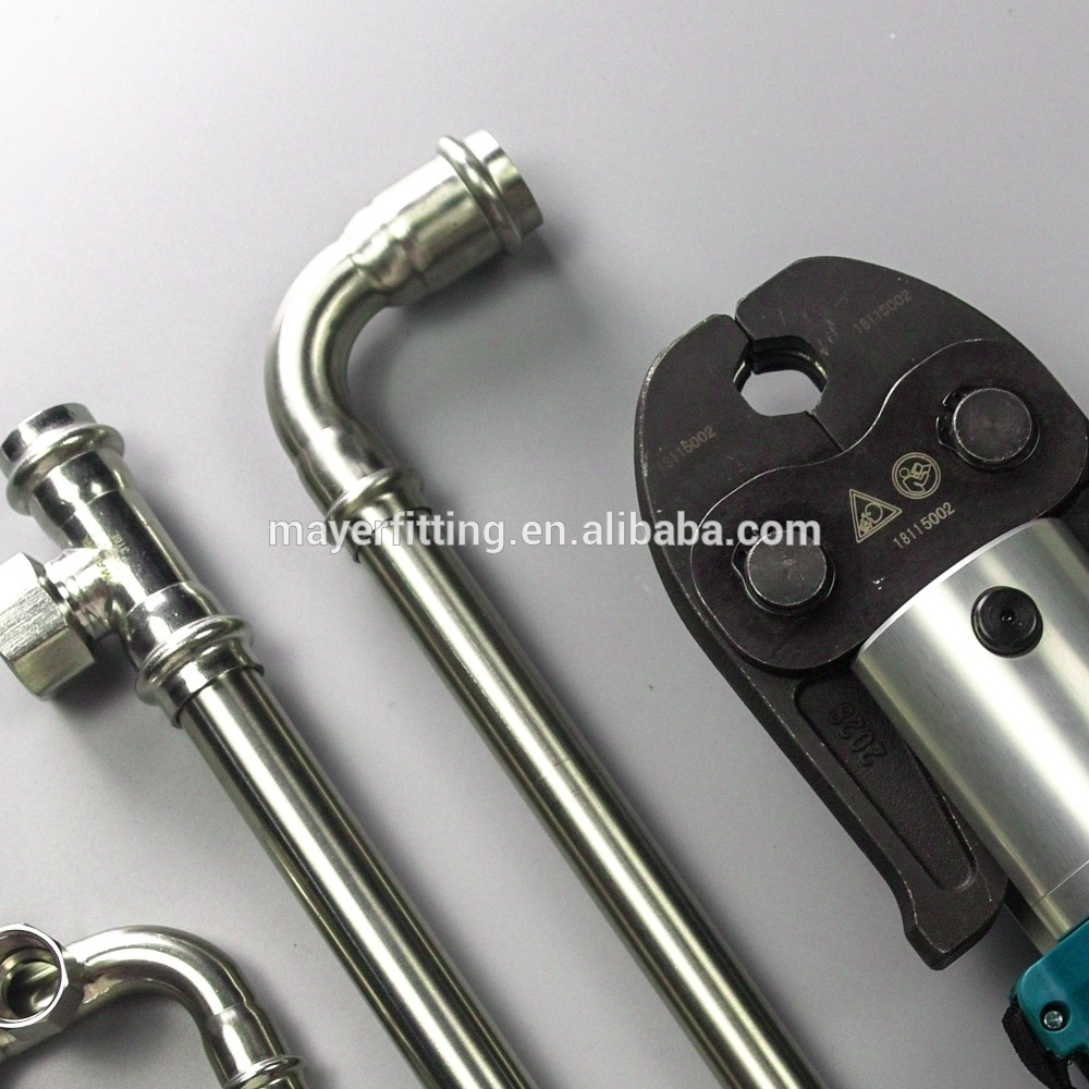 Hot sell inox tube fittings 304 tubos de acero 90 elbow reducer
