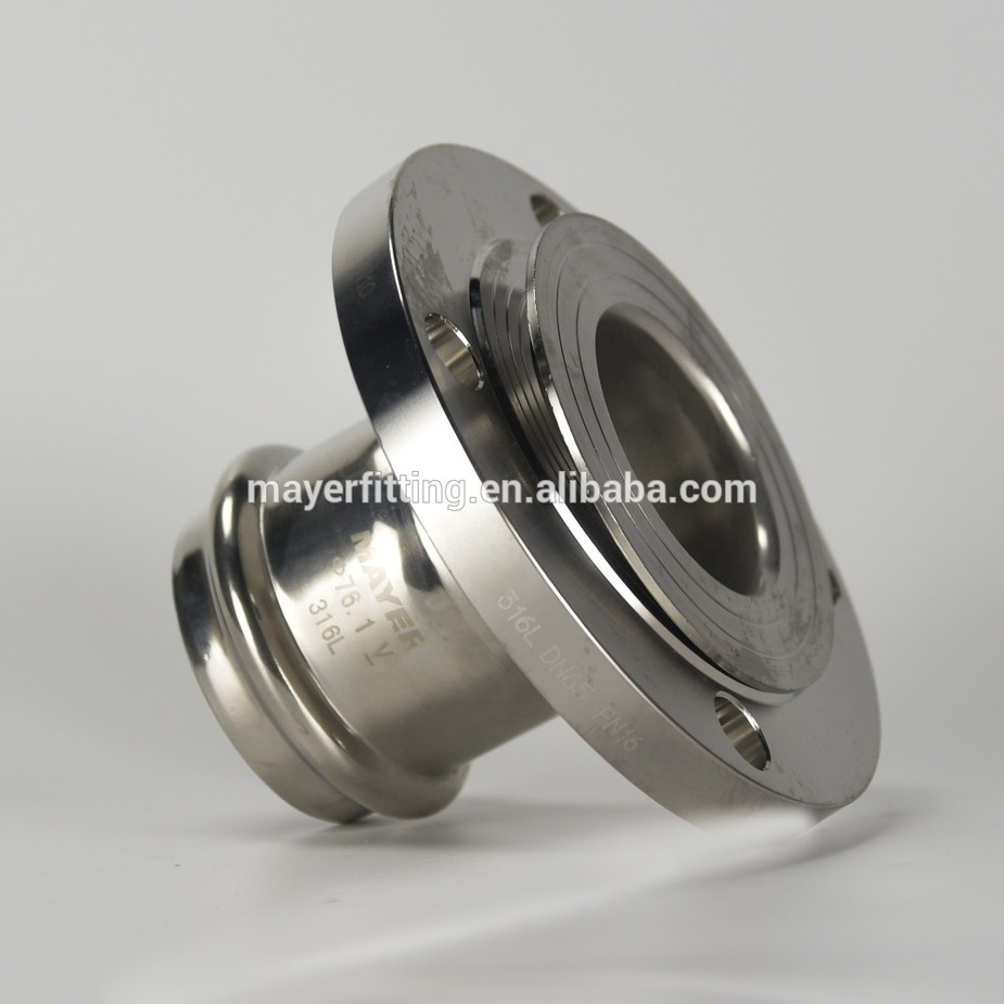 Stainless Steel Slip On DIN/ISO PN10/PN16 Flange Adapter