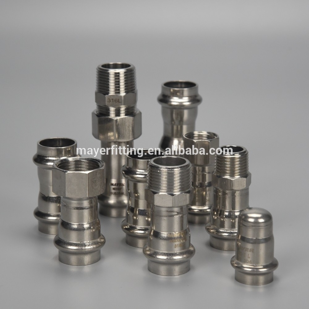 SS Pipe Fitting Connector Female Coupling Stainless Steel 316L Male Adapter