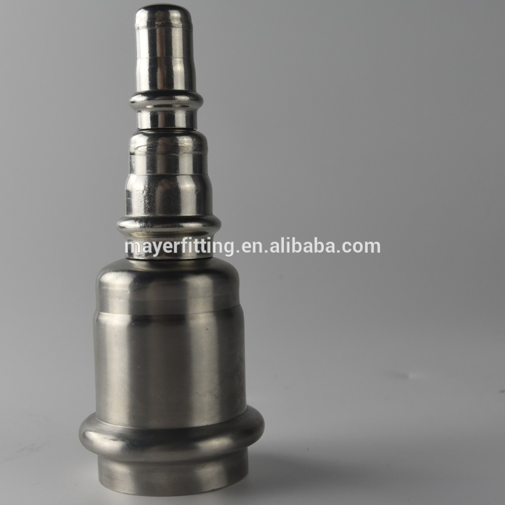 Sanitary Fitting Stainless Steel stop end cap 304 for plumbing system