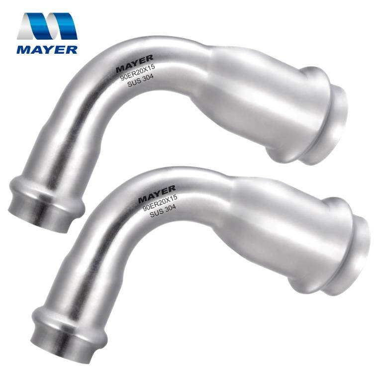 Hot and Cold Water Stainless Steel Plumbing Material Reducing Elbow 90 degree Bend