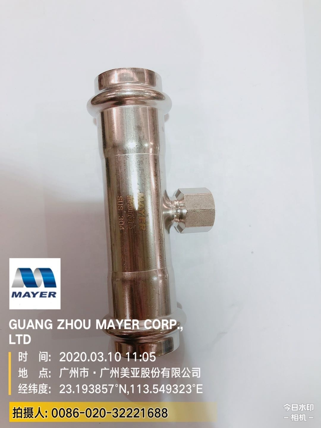 Factory Price Stainless Steel Plumbing Pipe Fitting for Water Supply