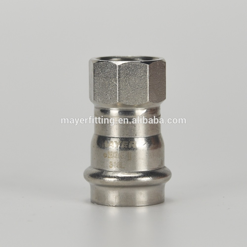 Factory supply stainless steel female coupling Adapter 28x3/4
