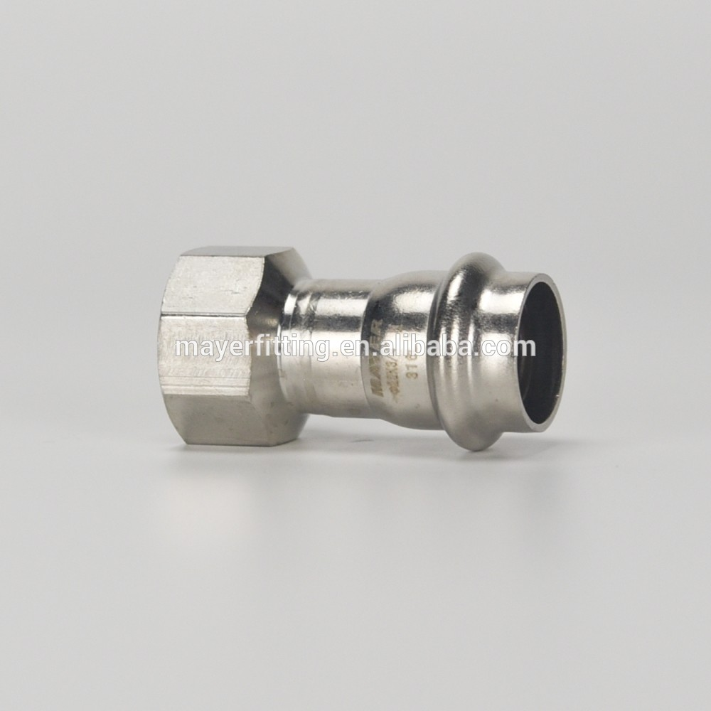 EN Series stainless steel female coupling adapter press fitting connector