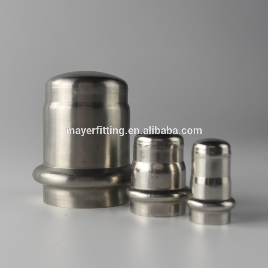 Stainless Steel Blind Tube End Cap Plug With or Without Chain