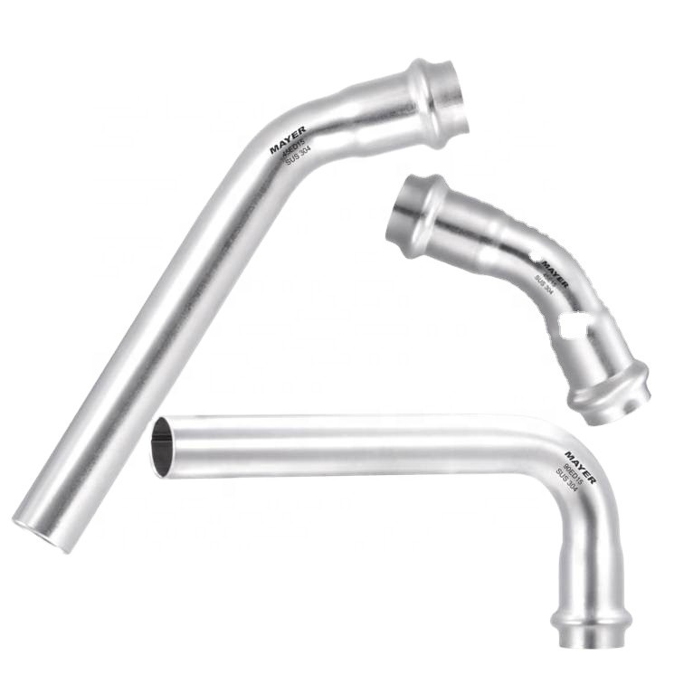 304/316l pipe fitting stainless steel 45 degree/bend elbow fitting adaptor for pipe connection