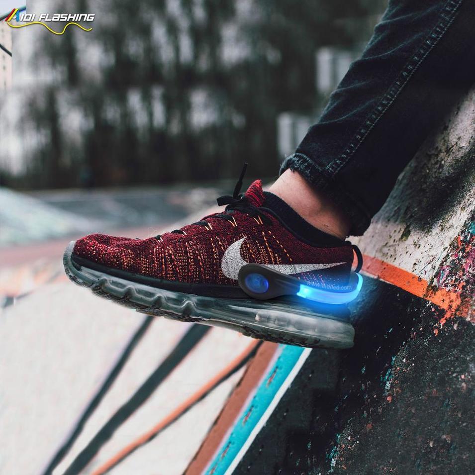 Shoe Accessory fashion running and party Led Light-up Shoe clip(led optical fiber)
