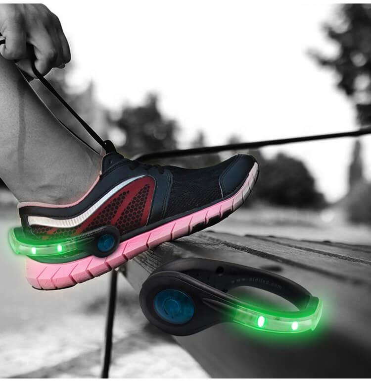 New Style Dot Light Led Running Shoe Clip Super Bright Led Light for Shoes Clip Rechargeable Luminous Shoe Accessory for Sport
