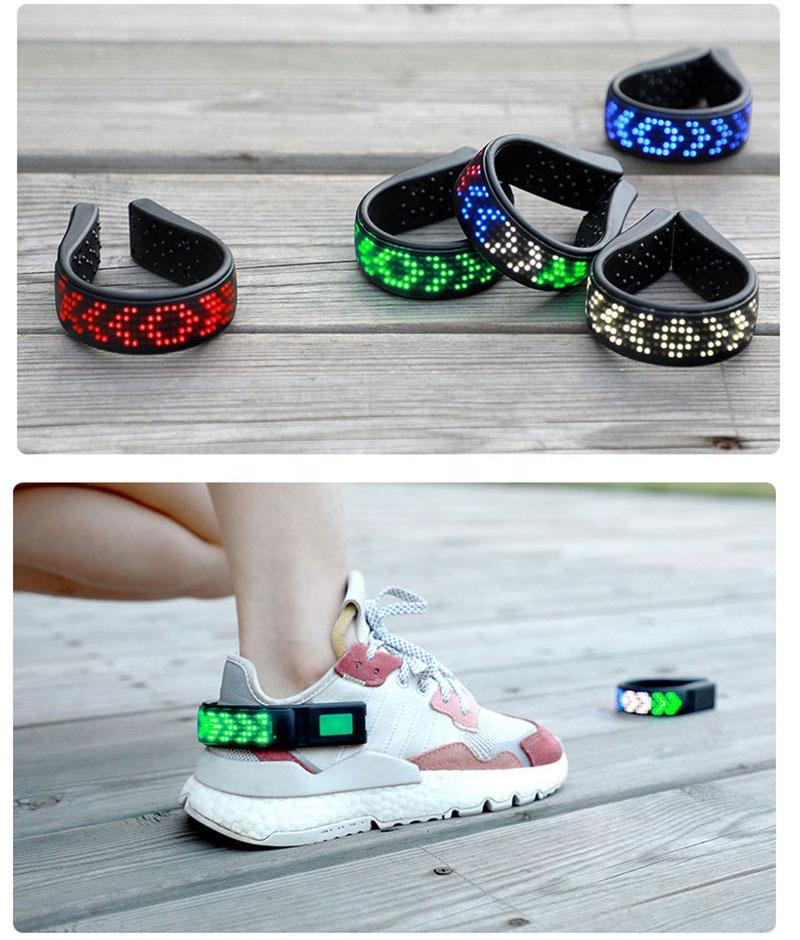 Man& Women Magic RGB Led Shoe Clip with Led Screen Running Light for Night Safety Led Lights for Shoes