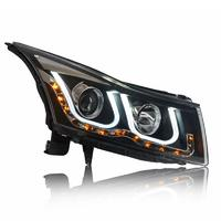 VLAND manufacturer for car headlight for CRUZE front light 2010-2014 LED head lamp plug and play with Angel eye+DRL+turn signal