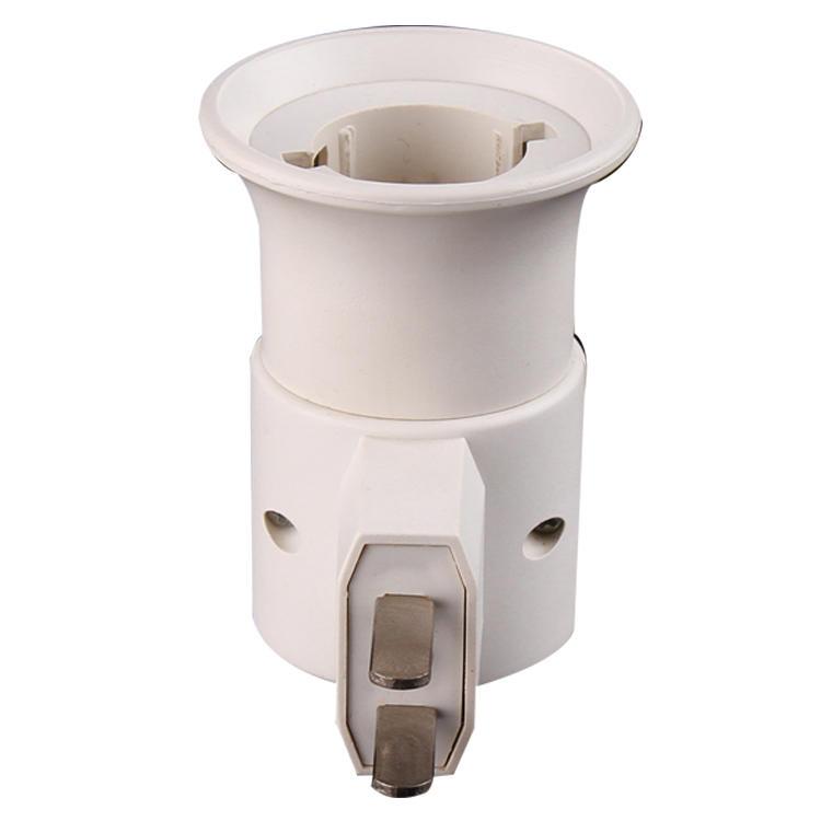 CE ROSH B22 with vertical flat Plug Light Bulb Lamp electrical plug socket Base Holder Adapter ConverterA19-2