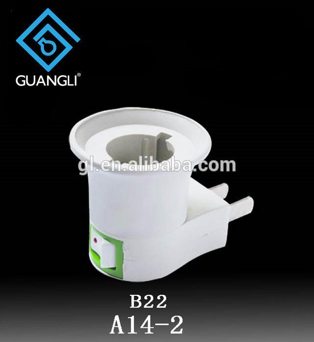 CE ROSH B22 caliber flat Plug Light Bulb Lamp electrical plug socket Base Holder Adapter Converter