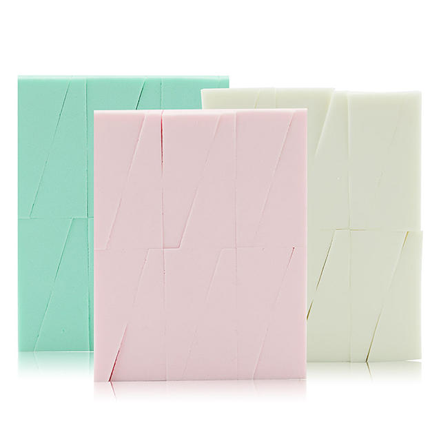 Private label wholesale rectangle makeup sponge blender professional foundation pre-cut make up sponge