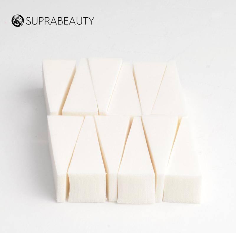 12pcs Non latex makeup sponge puff customized color cosmetic wedges bulk