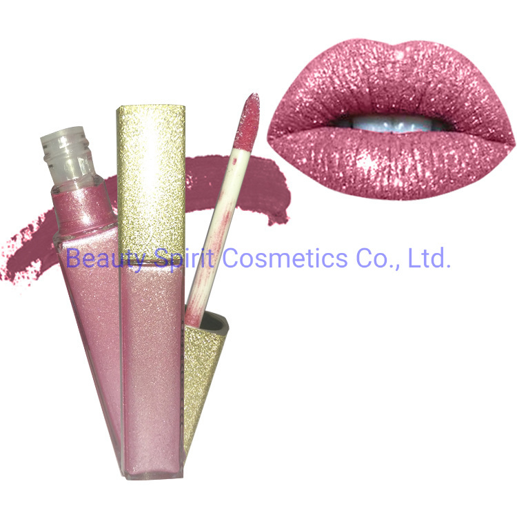 OEM Customized Cosmetics Makeup Long Lasting Glitter Liquid Lipstick
