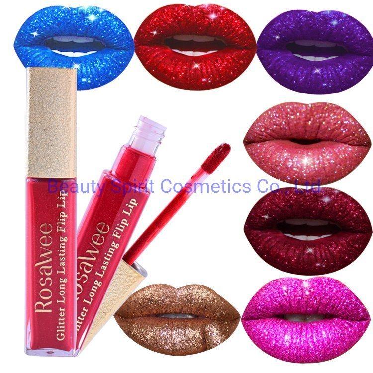 OEM Cosmetics Makeup Glitter Long Lasting 24 Hours Liquid Lipstick