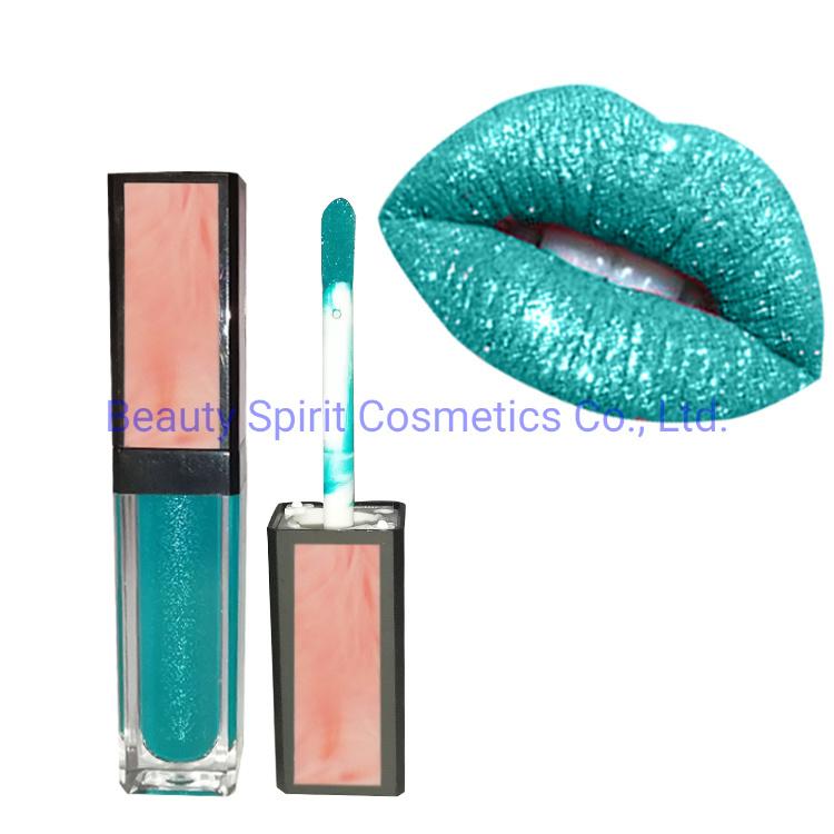 OEM Customized Cosmetics Makeup Glitter Long Lasting Liquid Lipstick