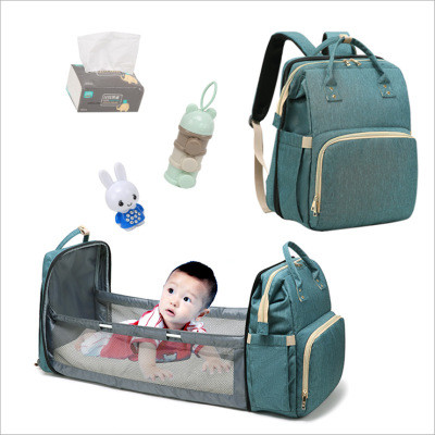 Hot Sale Multifunctional Waterproof Baby Bags Backpack Set Mummy Travel, Custom Diaper Baby Bag With Bed
