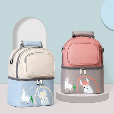 2020 New Product Customized Luxury Diaper Backpack Bed Baby Mom Bag