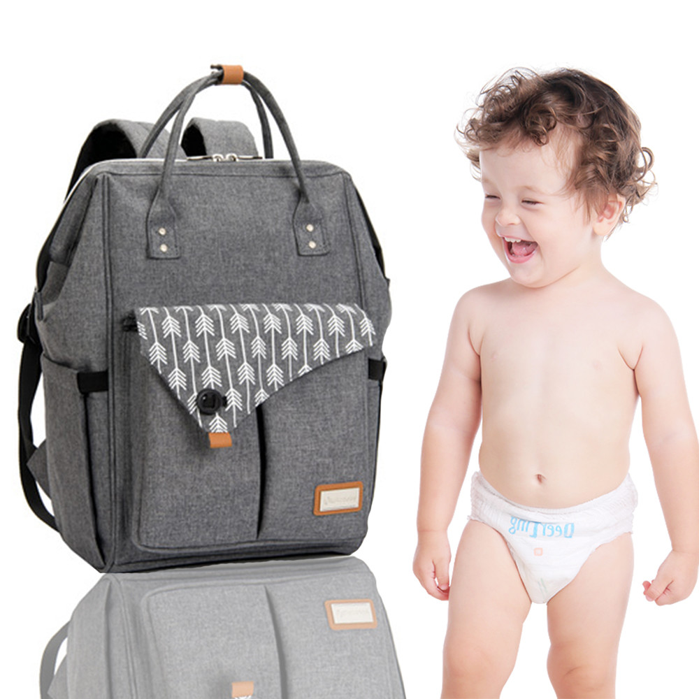 Hot Sale Baby Fashion Diaper Bag Mummy Baby Bag Backpack With Multifunction