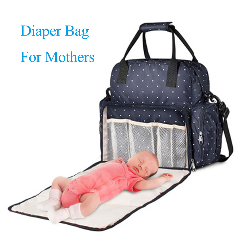 Multifunctional Portable Changing Backpack Baby Crib Bag, Mummy Bag Baby Bed Diaper Changing Station 3 Un 1 Mu