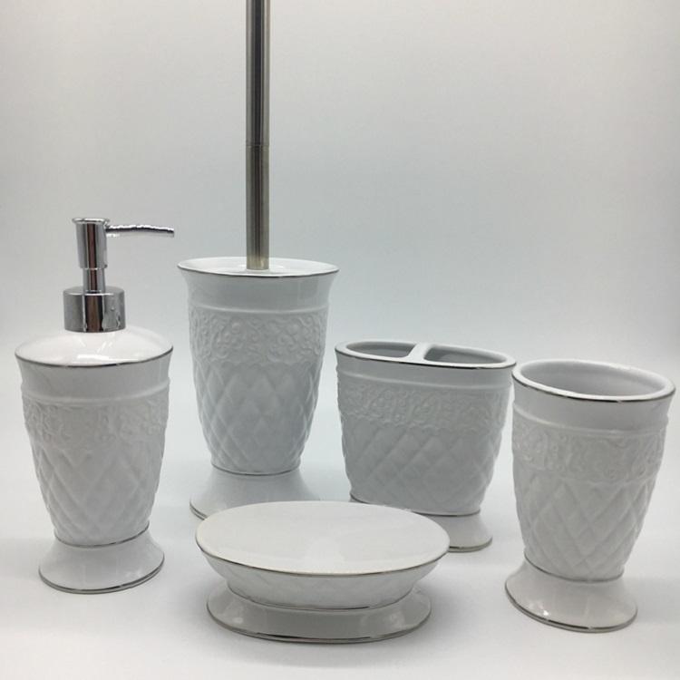 Modern Design Popular Ceramic Bath Accessory Set For Home Decoration