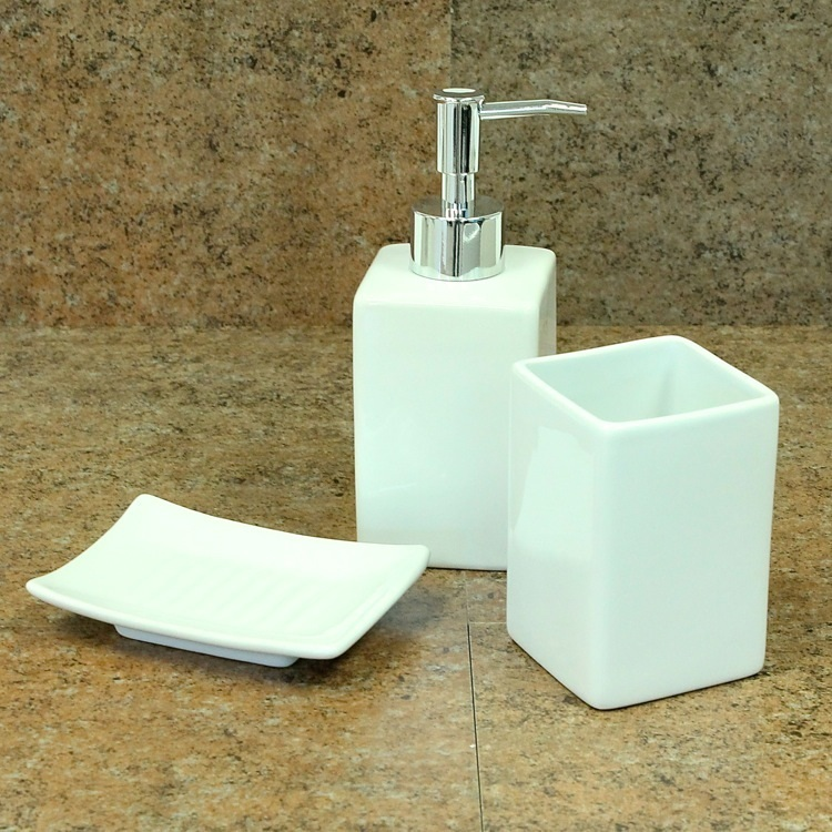 White Color Porcelain Ceramic Bathroom Sanitary Accessories Set