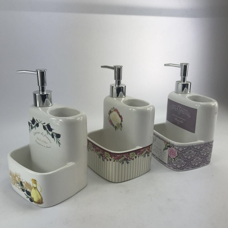 Royal Europe White Ceramic Kitchen Accessories Dispenser Set